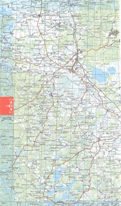 Карта Бежаницкого района