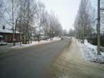 Советская улица, слева РОВД и ЦРБ